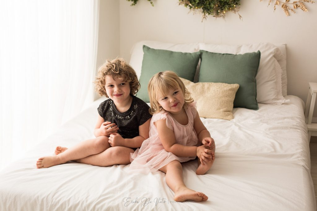 bambine sul letto