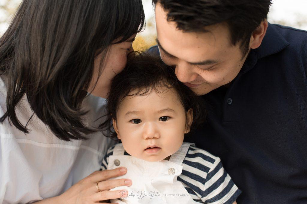 genitori e bambino 12 mesi