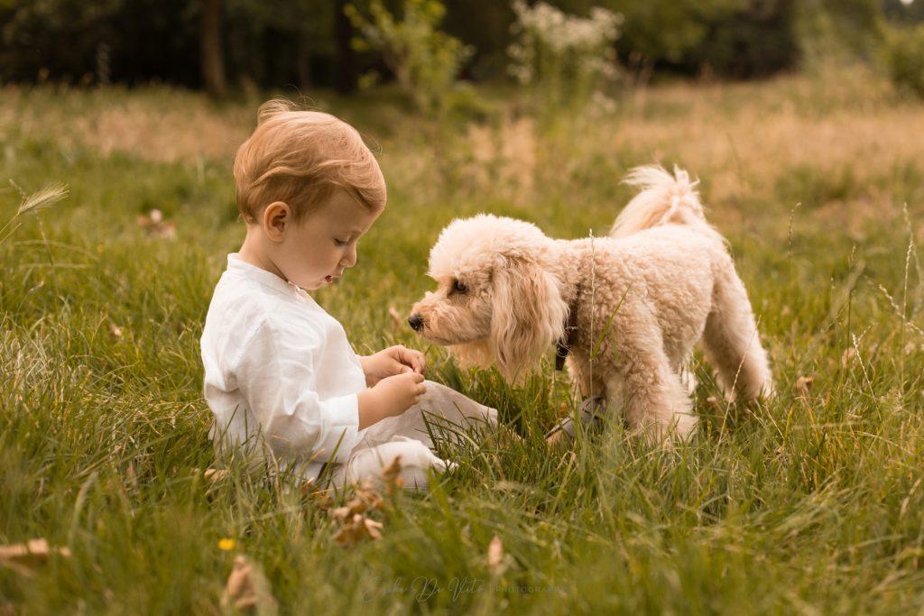 fotografie di bambino al parco lambro a milano