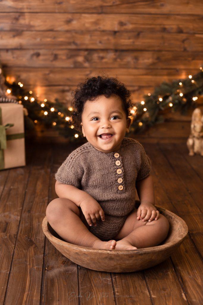 ritratto fotografico di Natale bambino