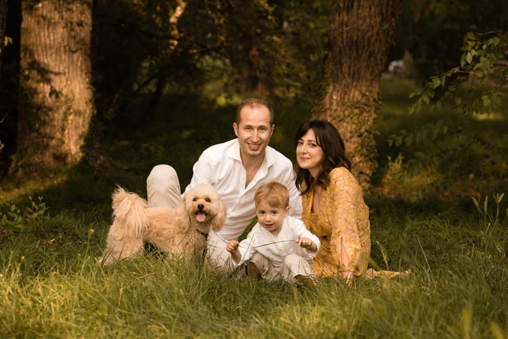 fotografie di famiglia al parco