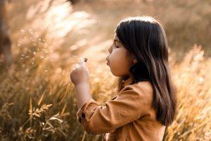fotografie bambina al parco