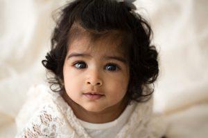 bambina foto in studio