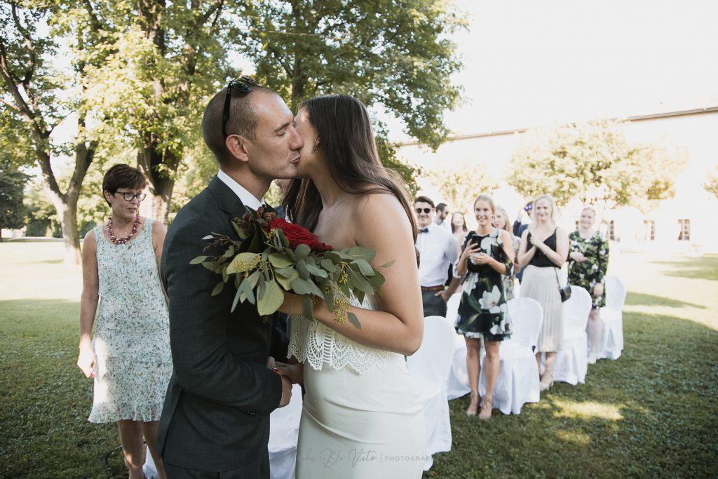 cerimonia giardino arrivo sposa