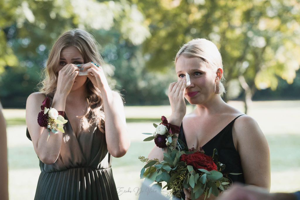 damigelle sposa commosse cerimonia
