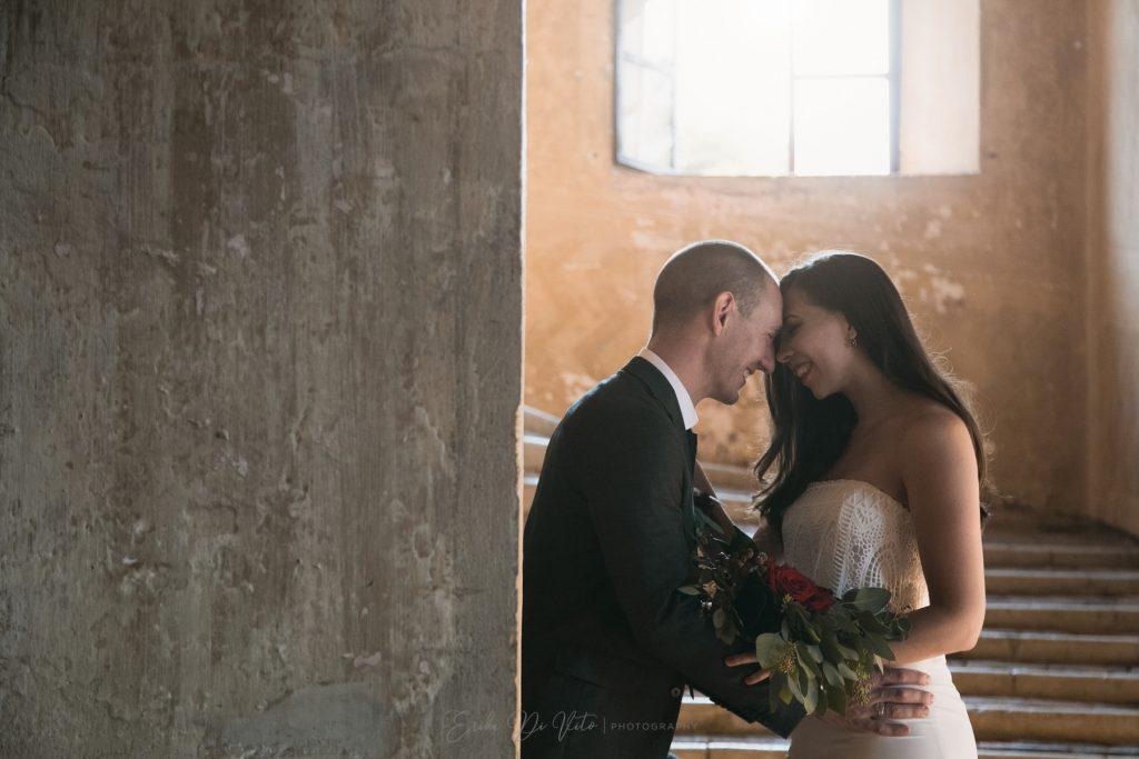 foto romantica sposi