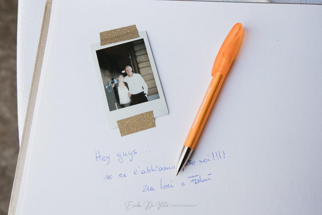 messaggio per sposi polaroid